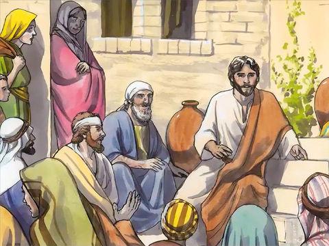 Ceux qui sont d'humble condition et qui ont longtemps été privés de nourriture spirituelle, se contentant de miettes qui tombaient de la table des pharisiens, sont maintenant rassasiés par les enseignements élevés de Jésus. Ils deviennent les privilégiés.
