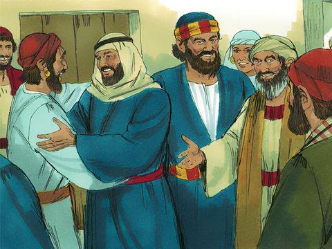 Après la mort de Jésus, les apôtres Pierre et Jean sont envoyés vers les habitants de Samarie qui ont fait bon accueil à la parole de Dieu suite à la prédication de l'apôtre Philippe.