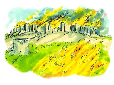 Les Juifs qui ont écouté Jésus comprennent qu'il leur faut quitter immédiatement la ville. Ils savent que Jésus a prophétisé la destruction de Jérusalem. Que celui qui est aux champs ne retourne pas en arrière pour emporter ses habits.
