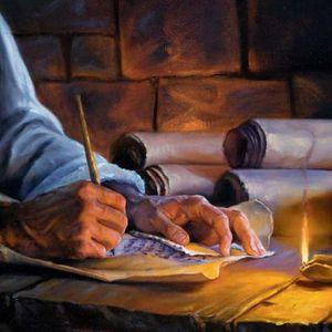 """L'ensemble des rédacteurs de la Bible ont été portés par l'esprit saint afin de rédiger les pensées de Dieu. """"c'est poussés par le Saint-Esprit que des hommes ont parlé de la part de Dieu."""