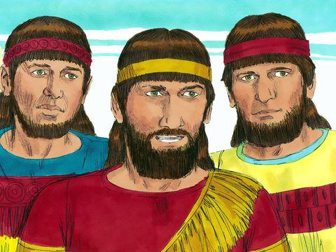 La fidélité des 3 Hébreux Shadrak, Méshak et Abed-Nego admis au service du roi après trois années d'instruction à Babylone est mise à rude épreuve. La Loi de Jéhovah interdit clairement toute forme d'idolâtrie comme se prosterner devant une idole.