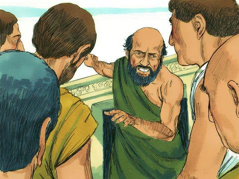 Au cours de sa prédication, l'apôtre Paul réussit à convaincre les Éphésiens que les dieux faits de mains d'homme ne sont pas des dieux. De ce fait, il s'attire la colère de Démétrius et des autres artisans qui vivent de la fabrication d'objets religieux.