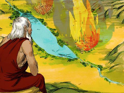 Destruction de Sodome et Gomorrhe par le feu et le soufre Lot et ses filles ont survécu