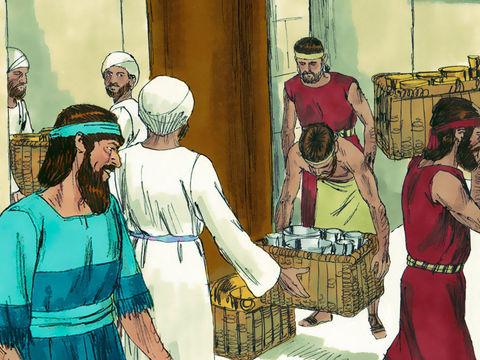 En arrivant à Jérusalem, Esdras constate que les Juifs libérés 80 ans plus tôt se sont déjà détournés de Jéhovah et se sont mêlés aux populations idolâtres, Cananéens, Hittites, Phéréziens, Jébusiens, Ammonites, Moabites, Egyptiens et Amoréens...