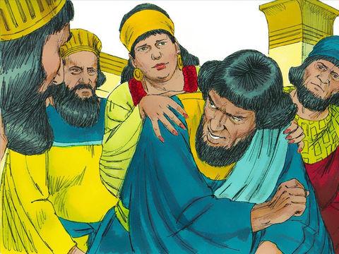 Il expose à sa femme Zéresh et à ses amis tout le pouvoir que le roi lui a accordé, la grandeur de ses richesses, le grand nombre de ses fils et même le privilège d'avoir été le seul invité au banquet de la reine Esther.