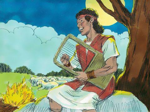 La harpe nous fait naturellement penser au roi David qui a composé et chanté de nombreuses louanges à Jéhovah Dieu, nous pouvons les découvrir dans le livre des Psaumes !