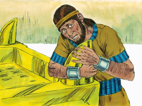 """En apprenant l'intronisation de Salomon, Adonijah prend peur. Il se réfugie au Tabernacle et s'accroche aux cornes de l'autel. en disant: """"Que le roi Salomon me promette aujourd'hui sous serment qu'il ne me fera pas mettre à mort par l'épée."""""""
