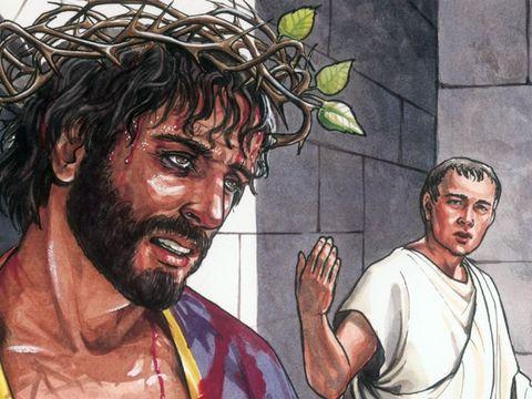 Pilate ne veut pas mettre à mort Jésus, mais les chefs religieux juifs réclament avec force sa mort.