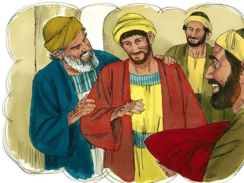 La parabole du fils prodigue - le père accueille le fils pécheur et lui offre des vêtements neufs.