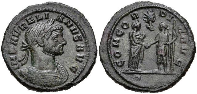 Aurélien institutionnalise le culte solaire de Sol Invictus qui reprend les mythologies de Mithra et d'Apollon et qui remplace le culte de l'Empereur. Le Soleil invaincu s'ajoute aux autres dieux mais il est considéré comme le dieu officiel de l'Empire.