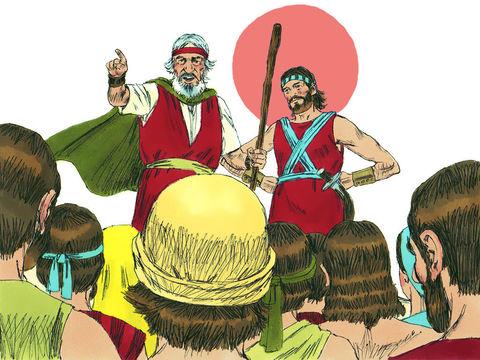 Alors que les Israélites sont au seuil de la terre promise Moïse s'adresse à eux pour les encourager à faire le bon choix. Ils doivent choisir entre la vie et la mort, entre la fidélité ou l'infidélité à Dieu. Les nations voisines idolâtres sont un danger