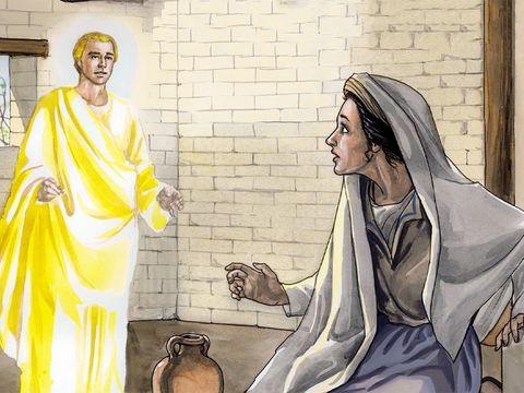 L'ange Gabriel a aussi annoncé à Marie qu'elle va donner naissance à Jésus, le Fils de Dieu, le Messie promis.