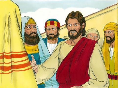 """Jésus enseigne ses disciples et les mettre en garde contre l'amour de l'argent. Il déclare : « Aucun serviteur ne peut servir deux maîtres, car ou il détestera le premier et aimera le second, ou il s'attachera au premier et méprisera le second."""""""