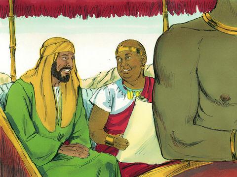 L'humble va ouvrir son cœur à l'enseignement de Dieu et de Jésus comme l'eunuque éthiopien enseigné par Philippe