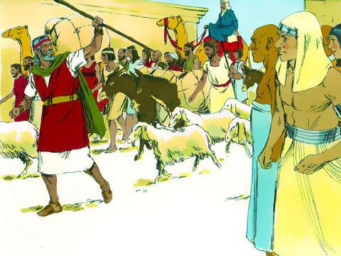 « 33 Et les Égyptiens pressèrent le peuple, pour le faire vite sortir du pays; car ils disaient: Nous sommes tous morts! 34 Le peuple prit donc sa pâte, avant qu'elle fût levée, avec leurs huches liées dans leurs vêtements sur leurs épaules. »