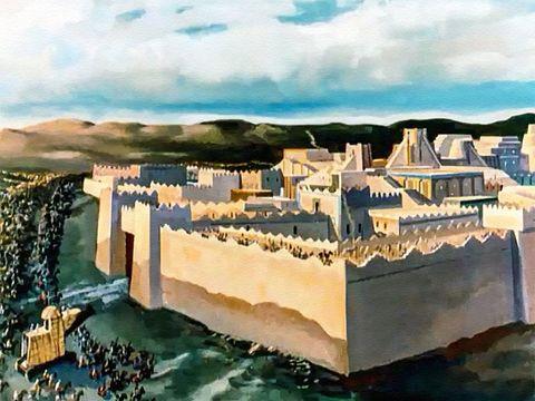 """C'est le prophète Esaïe qui avait prophétisé la façon dont Babylone serait prise et même le nom de son conquérant (Cyrus ordonnera ensuite la reconstruction du Temple de Jérusalem). Je dis aux eaux profondes: """"Desséchez-vous! """"Je tarirai tes fleuves."""