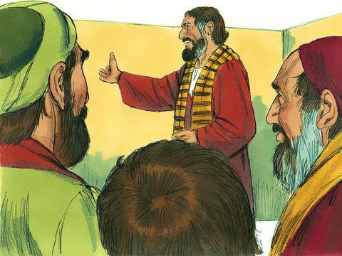 Des anciens travaillent avec les apôtres afin de prendre part à l'enseignement et aux décisions importantes, c'est le cas de Jacques, le frère de Jésus, considéré comme un pilier.
