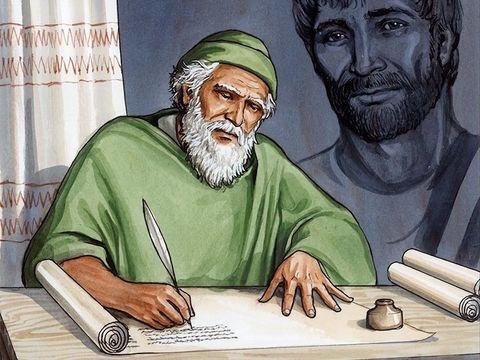 L'apôtre ou évangéliste Jean a rédigé le livre de l'Apocalypse transmis par Jésus alors qu'il était exilé par l'empereur romain Domitien sur l'île de Patmos.