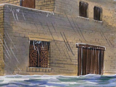 La pluie est tombée, les torrents sont venus, les vents ont soufflé et se sont déchaînés contre cette maison; elle ne s'est pas écroulée, parce qu'elle était fondée sur le rocher.