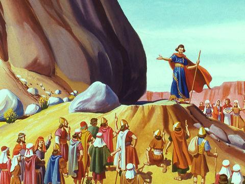 Moïse fait sortir de l'eau du rocher