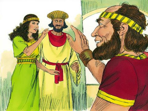 Parmi le grand nombre de jeunes filles rassemblées à Suse sous l'autorité d'Hégaï, se trouve Esther, une jeune juive orpheline élevée par son cousin Mardochée. Cette jeune fille, belle à tout point de vue, gagne la sympathie de l'eunuque.