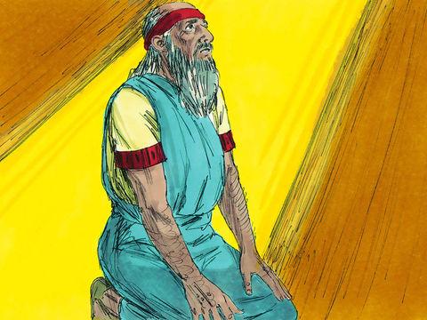 La vingt-cinquième année de notre captivité, au commencement de l'année, le dixième jour du mois, la quatorzième Le prophète Ézéchiel faisait très certainement partie des exilés du siège de 597 av J-C. En effet, voici ce qu'il déclare lui-même à Babylone:
