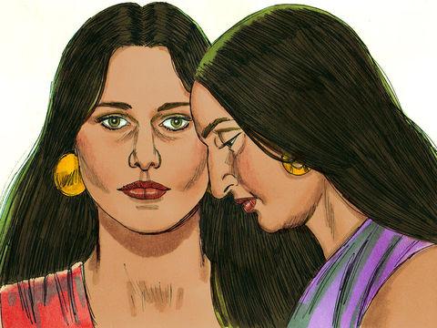 Léa était jalouse de sa sœur Rachel qui avait tout l'amour de son mari.