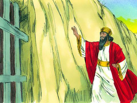 A sa grande surprise, Daniel lui répond ! « Roi, puisses-tu vivre toujours! Mon Dieu a envoyé son ange et fermé la gueule des lions. Ils ne m'ont fait aucun mal, parce que j'ai été trouvé innocent devant lui. Devant toi non plus, roi, je n'avais rien