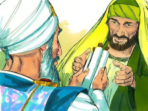 Saul de Tarse qui respire la menace et le meurtre contre les disciples de Jésus décide de se rendre à Damas afin d'en ramener les chrétiens à Jérusalem.