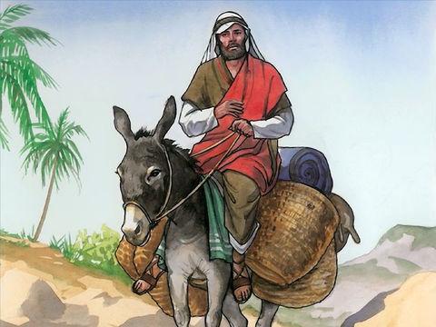 Le Samaritain, méprisé par les Juifs, a un comportement contrastant totalement avec les deux personnages précédents. Au lieu de rendre le mépris par le mépris, le Samaritain s'arrête et, en voyant l'homme laissé pour mort, il est rempli de compassion.