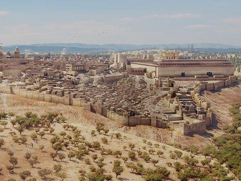 Le Tout-Puissant a particulièrement aimé Jérusalem, encore appelée Sion, ville chargée de symbole, le siège de la théocratie, la ville choisie pour construire le Temple de Jéhovah.