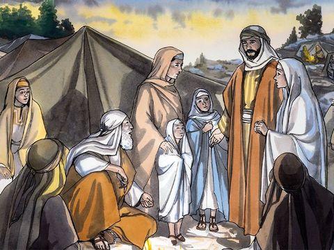 Les parents de Jésus se rendent compte, après une journée de voyage, que Jésus alors âgé de 12 ans n'est pas parmi eux. Inquiets, ils retournent à Jérusalem pour le rechercher.