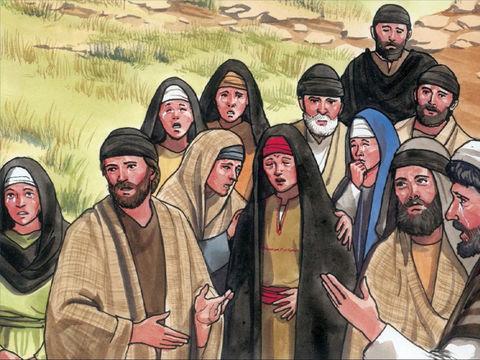 « Quand il vit qu'elle pleurait, et que les Juifs venus avec elle pleuraient aussi, Jésus, en son esprit (pneuma), fut saisi d'émotion, il fut bouleversé. »