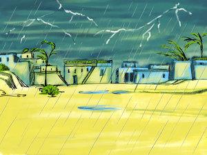 La grêle est une précipitation atmosphérique constituée de grains de glace formés dans les nuages à la suite d'un brusque abaissement de température.La grêle dans la Bible apparaît plusieurs fois, livre de l'Apocalypse, associée aux éclairs, au tonnerre.