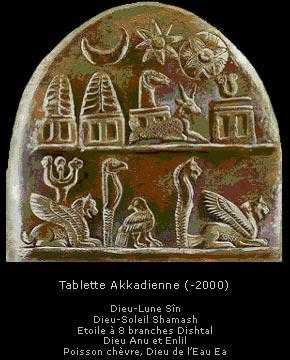 En Mésopotamie, An ou Anu (le dieu du ciel), Enlil ( le « Seigneur-souffle », dieu de la terre ferme) et Enki ou Ea (le maître des eaux) constituent la triade suprême.