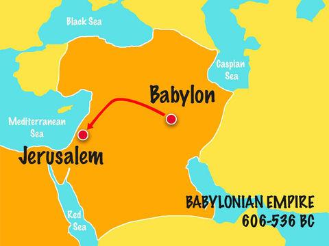 Le fils de Nabopolassar, Nébucadnetsar (Nabuchodonosor II) est roi de Babylone de 605 à 562 av J-C sur le plus vaste empire qu'ait dominé Babylone jusque là. Il sera le plus brillant représentant de la dynastie chaldéenne.