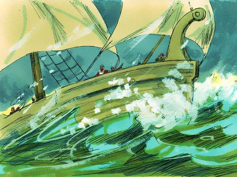 Une terrible tempête menace de naufrage le bateau dans lequel voyage Paul, pour son quatrième voyage entre la Crête et l'Italie.