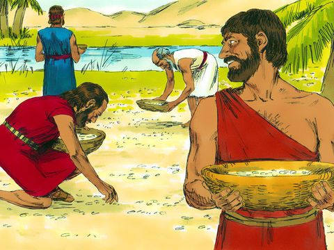 La manne ressemblait à de la graine de coriandre; elle était blanche et avait le goût d'un gâteau de miel. Les Israélites en ont mangé pendant 40 ans dans le désert. La manne tombait miraculeusement du ciel.