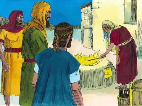 Le roi Saül sur le point de combattre une armée innombrable de Philistins, et sans réponse de la part de Dieu, va consulter un médium. Il s'agit d'une femme capable d'invoquer les esprits qui se trouve dans la ville d'En-Dor.
