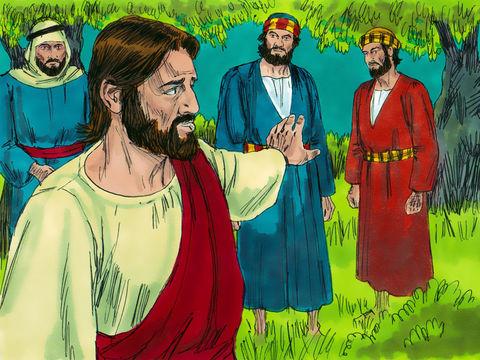 Les apôtres Pierre, Jacques et Jean ont accompagné Jésus pendant qu'il priait, la dernière nuit de sa vie terrestre, peu avant son arrestation dans le jardin de Gethsémané.