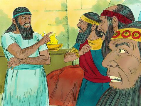 Le roi Nébucadnetsar a fait un rêve troublant il demande aux sages et aux magiciens de lui raconter le rêve puis de l'interpréter