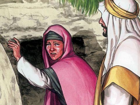 Jésus dit à Marie de Magdala de prévenir ses disciples qu'il est ressuscité et qu'il va monter vers son Père et vers son Dieu.