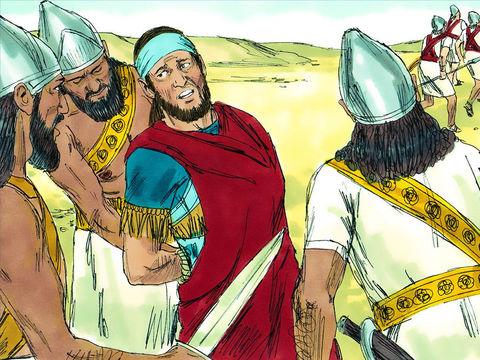 Jérusalem est dévastée. Sédécias, le dernier roi de Juda est déporté, enchaîné, à Babylone, ses propres fils sont égorgés devant lui. Puis il est mutilé et jeté en prison pour y rester jusqu'à sa mort.