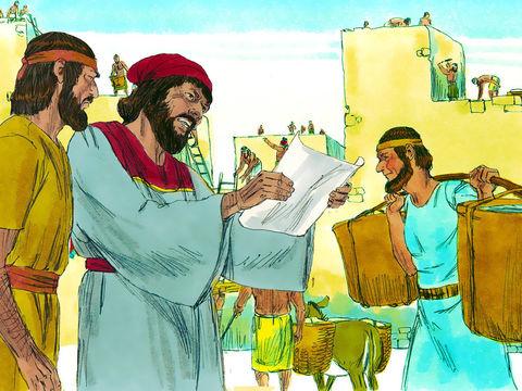 Le troisième décret pour la reconstruction de Jérusalem a été établi par Artaxerxès en Mars / Avril 445 av J-C. Néhémie va diriger les travaux de reconstruction de la muraille de Jérusalem.