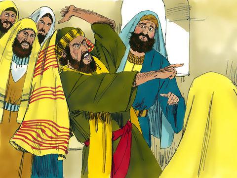 Dans la synagogue de Capernaüm se trouve un homme sous l'emprise d'un esprit mauvais et démoniaque. En voyant Jésus, il se met soudain à crier : « Ah ! Qu'est-ce que tu nous veux, Jésus de Nazareth ? Es-tu venu pour nous détruire ? Je sais qui tu es : le
