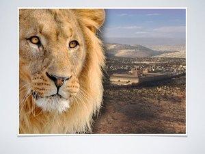 Jésus est appelé le lion de la tribu de Juda, le rejeton de la racine de David. Il est le descendant de David, le Messie promis à qui obéiront tous les peuples. Le sceptre royal n'échappera pas à Juda.