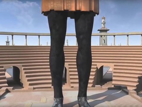Les jambes en fer de la statue du rêve prophétique de Nébucadnetsar représentent l'empire romain