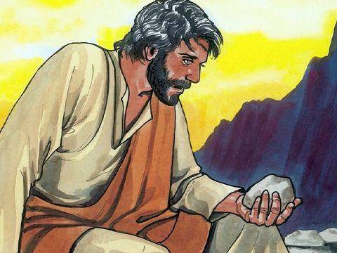 """Après avoir jeûné 40 jours et 40 nuits, il eut faim. Le tentateur s'approcha et lui dit: """"Si tu es le Fils de Dieu, ordonne que ces pierres deviennent des pains."""" Jésus répondit: """"L'homme ne vivra pas de pain seulement, mais de toute parole de Dieu."""""""