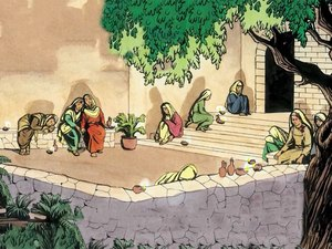 Comme le marié tardait, toutes s'assoupirent et s'endormirent. 6 Au milieu de la nuit, on cria: 'Voici le marié, allez à sa rencontre!' Les sottes avaient oublié l'huile dans leur lampe. Les avisées étaient prêtes pour accueillir Jésus, l'époux.