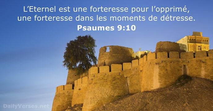 Faisons de Dieu notre refuge, notre forteresse, notre secours. Proverbes : C'est un piège que de trembler devant les hommes mais se confier en l'Eternel procure la sécurité. Je dis à Jéhovah: Tu es mon refuge et ma forteresse, mon Dieu en qui je me confie